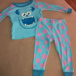 Disney Sully pajama set size 18-24 months